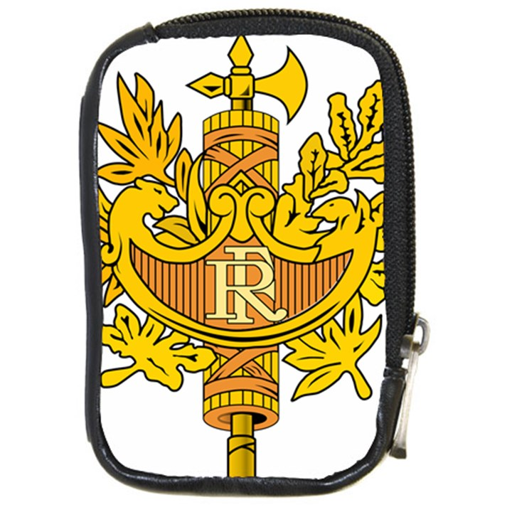 French Republic Diplomatic Emblem Compact Camera Leather Case