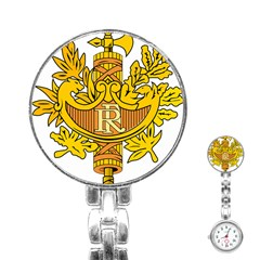 French Republic Diplomatic Emblem Stainless Steel Nurses Watch by abbeyz71