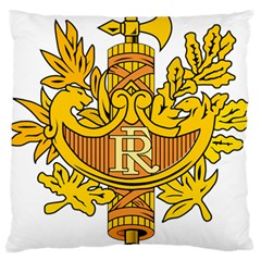French Republic Diplomatic Emblem Large Flano Cushion Case (two Sides) by abbeyz71