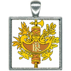 French Republic Diplomatic Emblem Square Necklace by abbeyz71