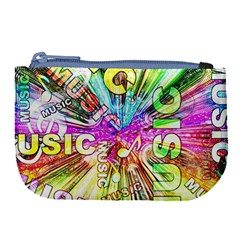 Music Abstract Sound Colorful Large Coin Purse by Mariart
