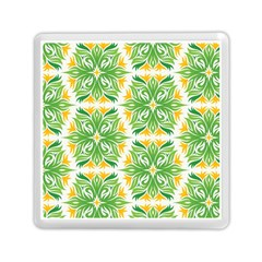 Green Pattern Retro Wallpaper Memory Card Reader (square)