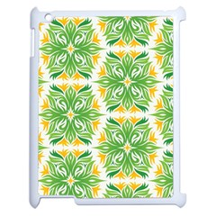 Green Pattern Retro Wallpaper Apple Ipad 2 Case (white)