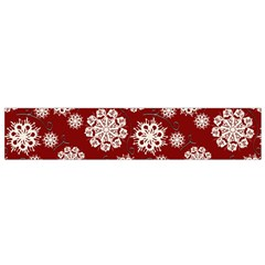 Snowflakes On Red Small Flano Scarf by bloomingvinedesign