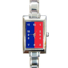 Flag Of Paris Rectangle Italian Charm Watch by abbeyz71