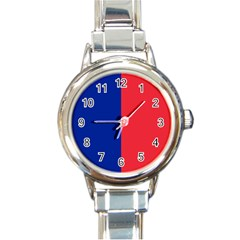 Flag Of Paris Round Italian Charm Watch by abbeyz71