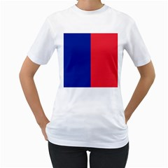 Flag Of Paris Women s T-shirt (white) (two Sided) by abbeyz71
