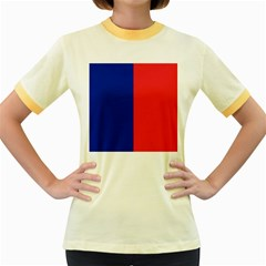 Flag Of Paris Women s Fitted Ringer T-shirt by abbeyz71
