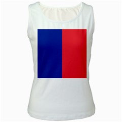 Flag Of Paris Women s White Tank Top by abbeyz71