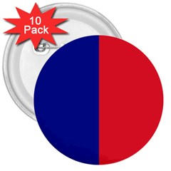 Flag Of Paris 3  Buttons (10 Pack)  by abbeyz71