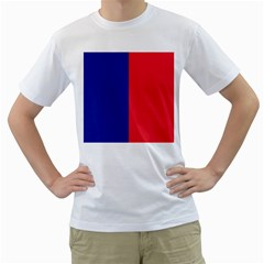 Flag Of Paris Men s T-shirt (white) (two Sided) by abbeyz71