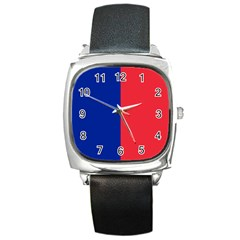 Flag Of Paris Square Metal Watch by abbeyz71