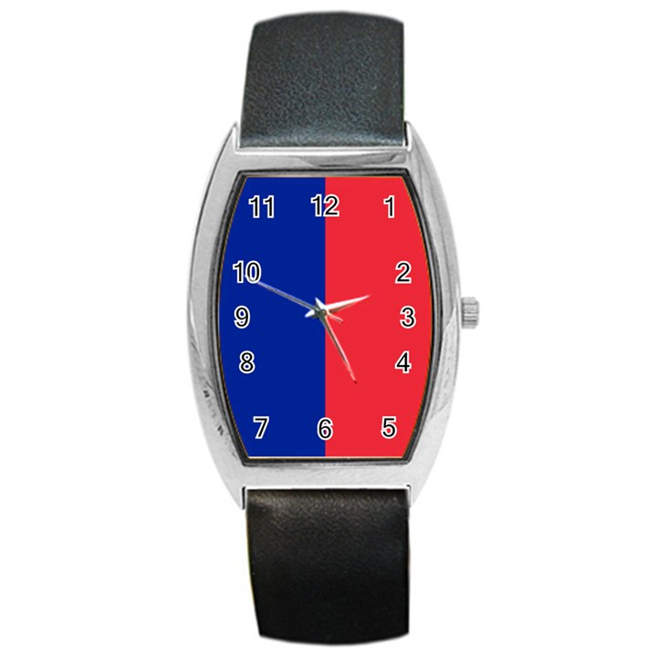 Flag of Paris Barrel Style Metal Watch