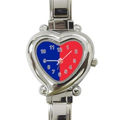 Flag Of Paris Heart Italian Charm Watch by abbeyz71