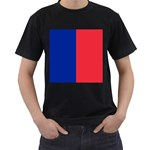 Flag of Paris Men s T-Shirt (Black) (Two Sided) Front