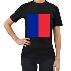 Flag Of Paris Women s T-shirt (black) (two Sided) by abbeyz71