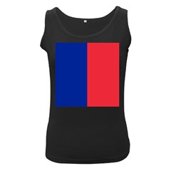 Flag Of Paris Women s Black Tank Top