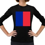 Flag of Paris Women s Long Sleeve Dark T-Shirt Front