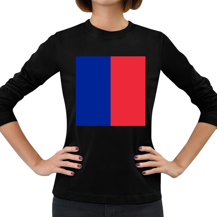 Flag of Paris Women s Long Sleeve Dark T-Shirt