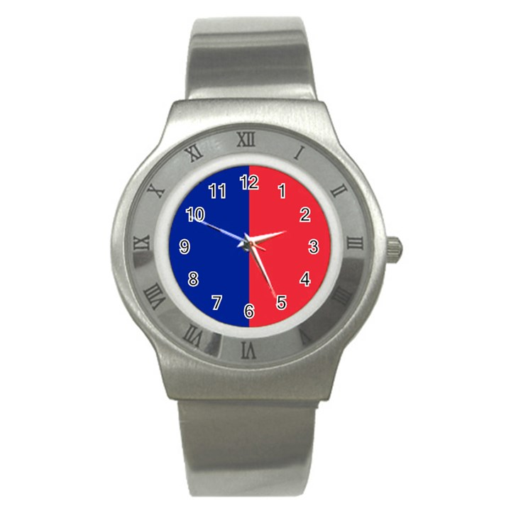 Flag of Paris Stainless Steel Watch