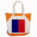 Flag of Paris Accent Tote Bag Front