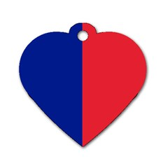 Flag Of Paris Dog Tag Heart (two Sides) by abbeyz71