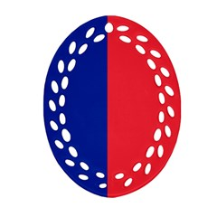 Flag Of Paris Ornament (oval Filigree) by abbeyz71
