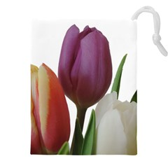 Tulips Spring Bouquet Drawstring Pouch (4xl) by picsaspassion