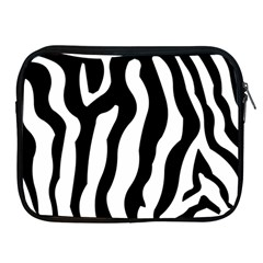 Wild Zebra Pattern Black And White Apple Ipad 2/3/4 Zipper Cases by picsaspassion