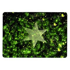Star Blue Star Space Universe Samsung Galaxy Tab 10 1  P7500 Flip Case by AnjaniArt