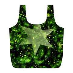 Star Blue Star Space Universe Full Print Recycle Bag (l)