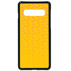 Background Polka Yellow Samsung Galaxy S10 Seamless Case(black) by HermanTelo