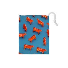 Illustrations Cow Agriculture Livestock Drawstring Pouch (small)