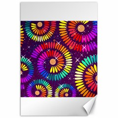 Abstract Background Spiral Colorful Canvas 20  X 30  by HermanTelo