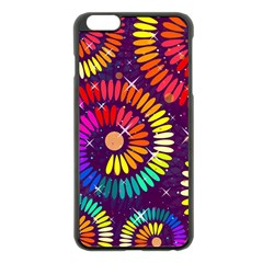 Abstract Background Spiral Colorful Iphone 6 Plus/6s Plus Black Enamel Case