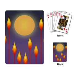 Night Moon Flora Background Playing Cards Single Design (Rectangle)