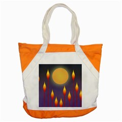 Night Moon Flora Background Accent Tote Bag
