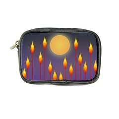 Night Moon Flora Background Coin Purse
