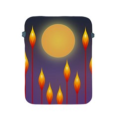Night Moon Flora Background Apple iPad 2/3/4 Protective Soft Cases
