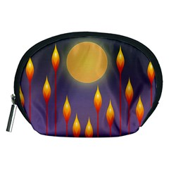 Night Moon Flora Background Accessory Pouch (Medium)