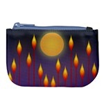 Night Moon Flora Background Large Coin Purse Front