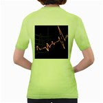 Music Wallpaper Heartbeat Melody Women s Green T-Shirt Back