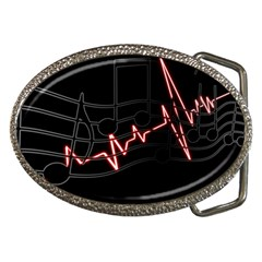 Music Wallpaper Heartbeat Melody Belt Buckles