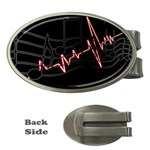 Music Wallpaper Heartbeat Melody Money Clips (Oval)  Front