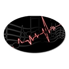 Music Wallpaper Heartbeat Melody Oval Magnet by HermanTelo