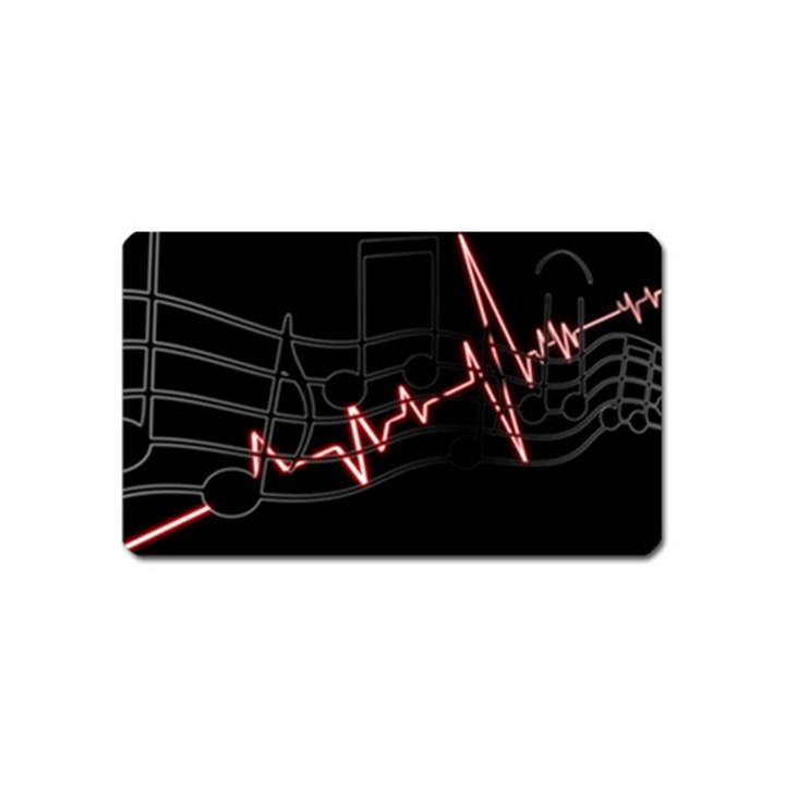 Music Wallpaper Heartbeat Melody Magnet (Name Card)