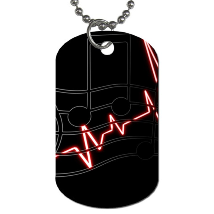 Music Wallpaper Heartbeat Melody Dog Tag (One Side)