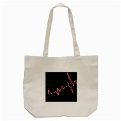 Music Wallpaper Heartbeat Melody Tote Bag (cream) by HermanTelo
