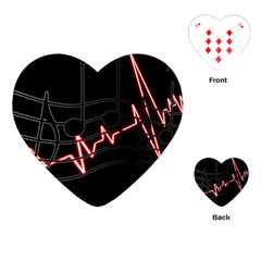 Music Wallpaper Heartbeat Melody Playing Cards Single Design (heart) by HermanTelo