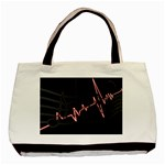 Music Wallpaper Heartbeat Melody Basic Tote Bag (Two Sides) Front